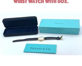 Lot 12 14K Gold Tiffany and Co Wrist Watch with Box.
