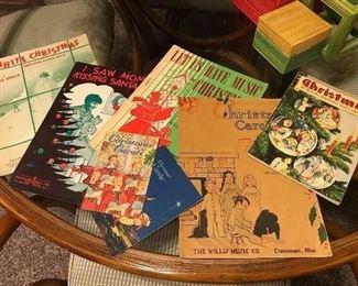 Vintage Christmas Sheet Music & Music Books