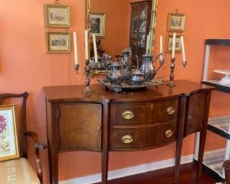 #5 gilt mirror -#4 small mahogany sideboard
