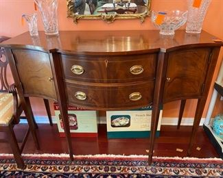 "#4Federal Style Mahogany Sideboard (Hickory, NC), 56"" x 23"" x 39""h $495"