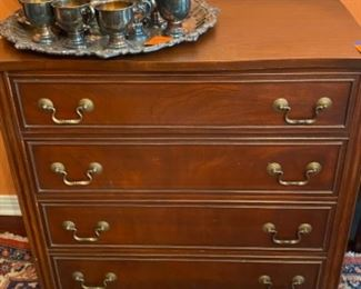 "#7Classic Four Drawer Dresser, 33"" x 18""d x 33""h $325"