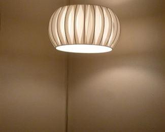 Cool vintage fabric hanging lamp