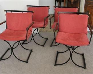 "5.$300.00. Set 4 mid century chairs 30"" X 22"" X 20"