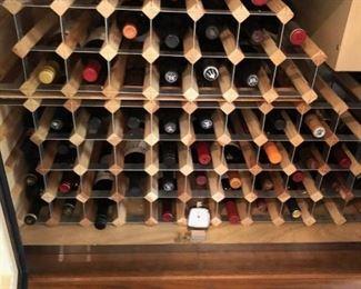 Buffet Wine Cooler interior.