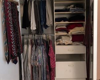 A small amount of men's clothing. Nice.  Shoes size 11.5