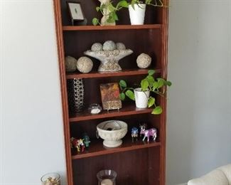 Farmhouse Style Wood Display Cabinet  $150.00