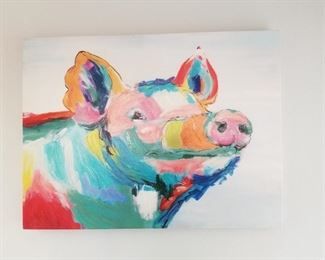 Large Piggy Picture  $125.00