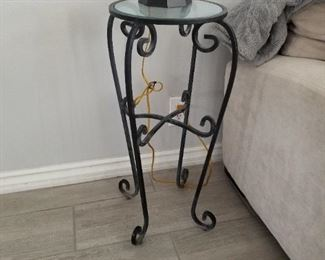Small Wrought Iron Side table  $65.00