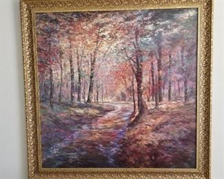 Large Picture Forest Scene $125.00