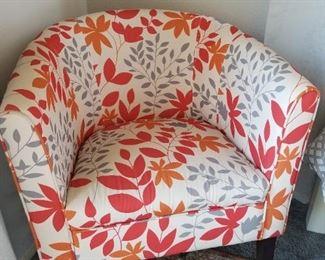 Fall Orange Leaf Chair $125.00