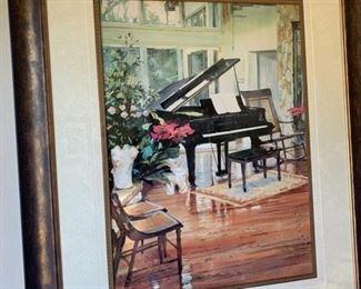 Piano print - $40