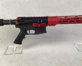 "Serial - LW4-04665 Mfg - New Frontier Model - LW4 AR-15 Pistol Caliber - 5.56 NATO Barrel - 10.5"" Type - Pistol Located in Chattanooga, TN Condition - 1 - New This New Frontier LW4 AR Pistol is ideal for those in need of a truck gun, or a smaller AR-15 for self defense purposes. This pistol features a 10.5"" barrel with a full length red MLOK handguard and other red accessories making this pistol stylish, yet durable.  ***THIS PISTOL COMES WITH NO MAGAZINE***"