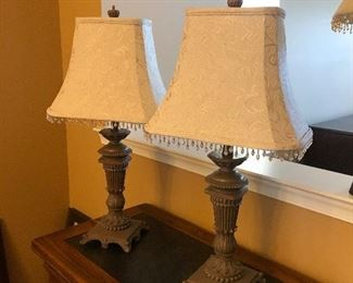 2 lamps $40