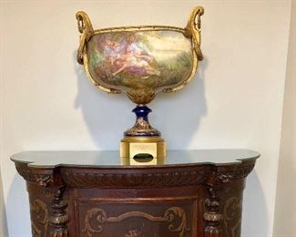 "Monumental 29"" Sevres ormolu centerpiece made in 1857 for the Chateau De Tuileries during the reign of Napoleon III (1852-1870), who used the house as his main residence"
