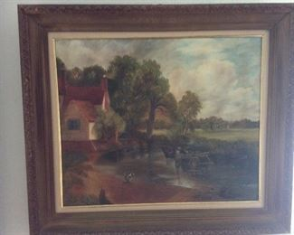 Oil`on canvas. By the home owner