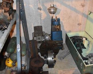 Lathe tooling, large vises, johnson outboard