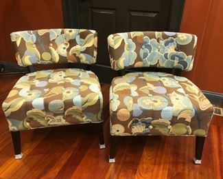 lovely modern floral upholstered chairs