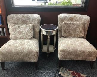 lovely soft beige/brown upholstered chairs