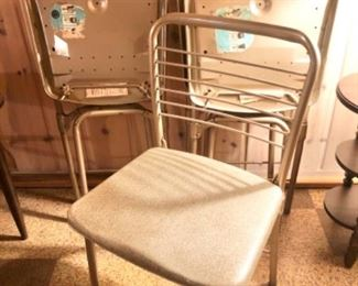 vintage folding chairs, set of 4