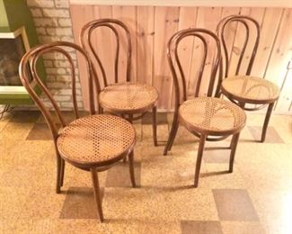 4 vintage cafe chairs