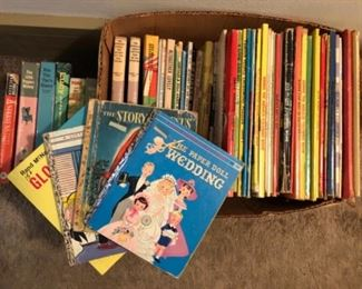 Vintage books and coloring books