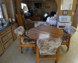 Game table with extra leaf and 4 chairs $145