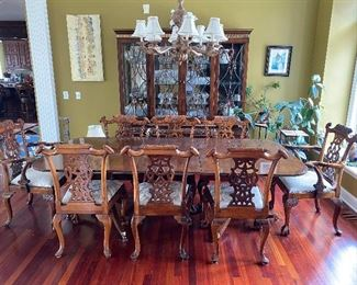 (8) Chippendale Style Mahogany Chairs
