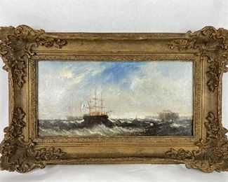 Antique Oil On Canvas Painting (English c.1875)