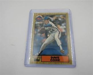 Lot 036 1987 Topps Tiffany Traded Rookie Dave Cone #24T Rookie card- new out of the box!