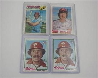 Lot 048 Lot of 4 Topps Mike Schmidt baseball cards
