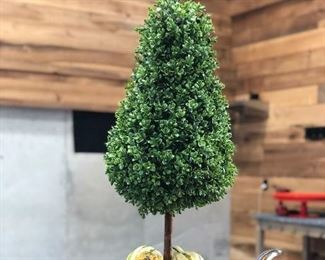 NOW $45! AWESOME boxwood topiary. 36 inches. Could even be used on a covered patio.