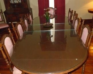 Banquet table with chairs