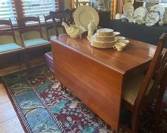 $125.00   Willett Cherry drop leaf dining table, includes 1 additional leaf