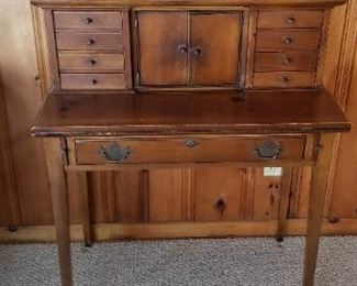 Solid cherry secretary desk, made by Townshend in Vermont
