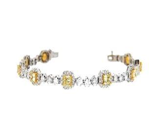 Fancy Yellow Diamond Bracelet