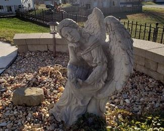 Cement angel statue