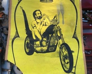 1969 Zig Zag Biker Poster
