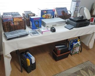 DVDs, CDs, electronics, records