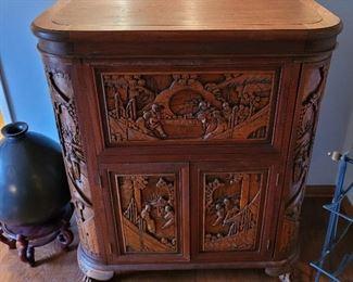 Asian carved bar