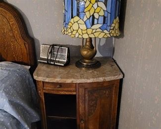 French marble top side table