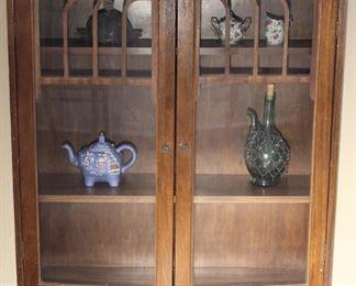 """Depression Ern Glass Front Bookcase Curio                                     (36""""X44""""X11"""")"""