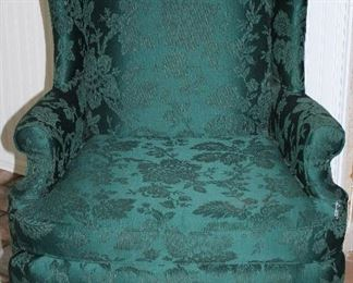 Pem-kay Green Winged backed Chair