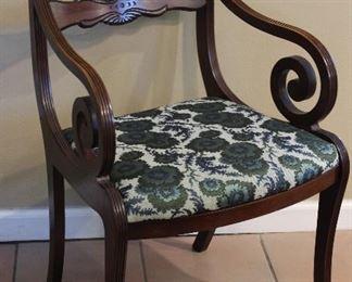 Regency Style Mahogany Arm Chair