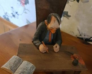 H. S. Andy Anderson Wood Carving The Judge & Jury