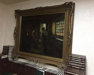 Available for pre sale. Call 714 499 4199 for more info. Original oil painting from the late 1800's by James Wallace of England, 1872-1911.