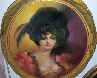 Available for pre sale, 714 499 4199. Julian Ritter, 24 x 20 oval, oil on masonite.