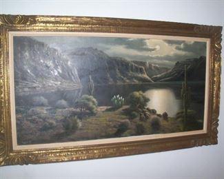 Available for pre sale, 714 499 4199. Barnett, 24 x 48, oil on canvas.