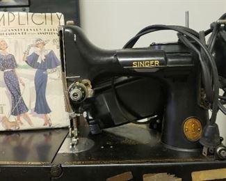 Vintage Singer Sewing machine, vintage sewing patterns