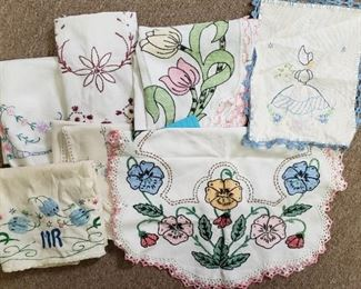 vintage linens, quilts