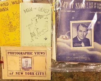 vintage ephemera, sheet music